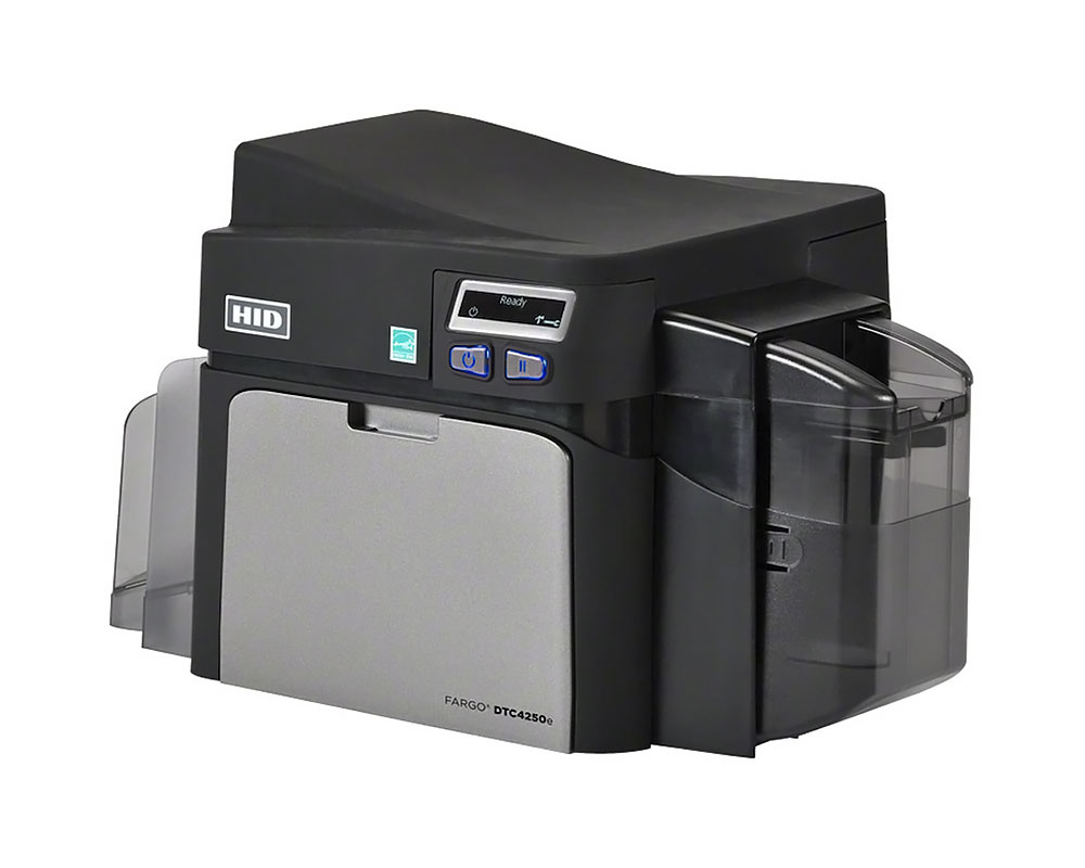 FARGO HID DTC4250e Kartendrucker - Seitenansicht